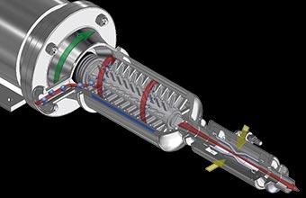 製品特性(ターボミックス ミキシングヘッド内部構造の3D画像)
